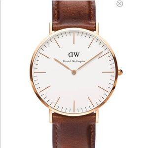Daniel Wellington Brown & Rose Gold 40mm Watch